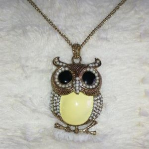 Golden Owl Rope Necklace